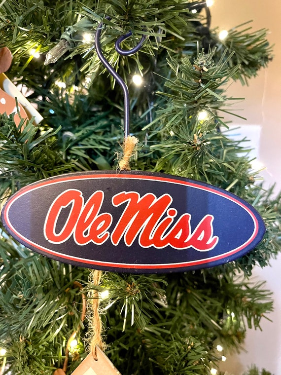 OLE MISS LICENSED metal ornament, Ole Miss Round Top sign, ole miss college sign, ole miss Christmas ornament