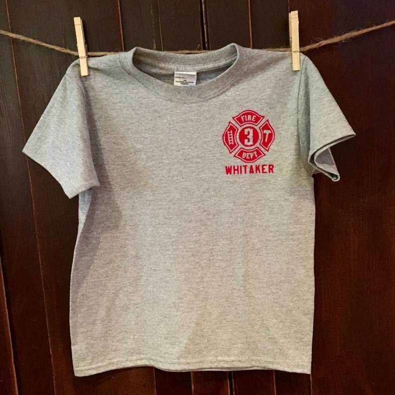 5b5632f14 Toddler/Youth Custom Fire Department Shirt | Etsy