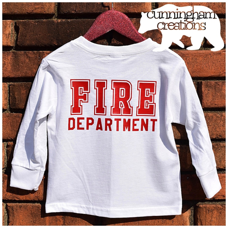 84fc37560 Long Sleeve Toddler/Youth Custom Fire Department Shirt | Etsy