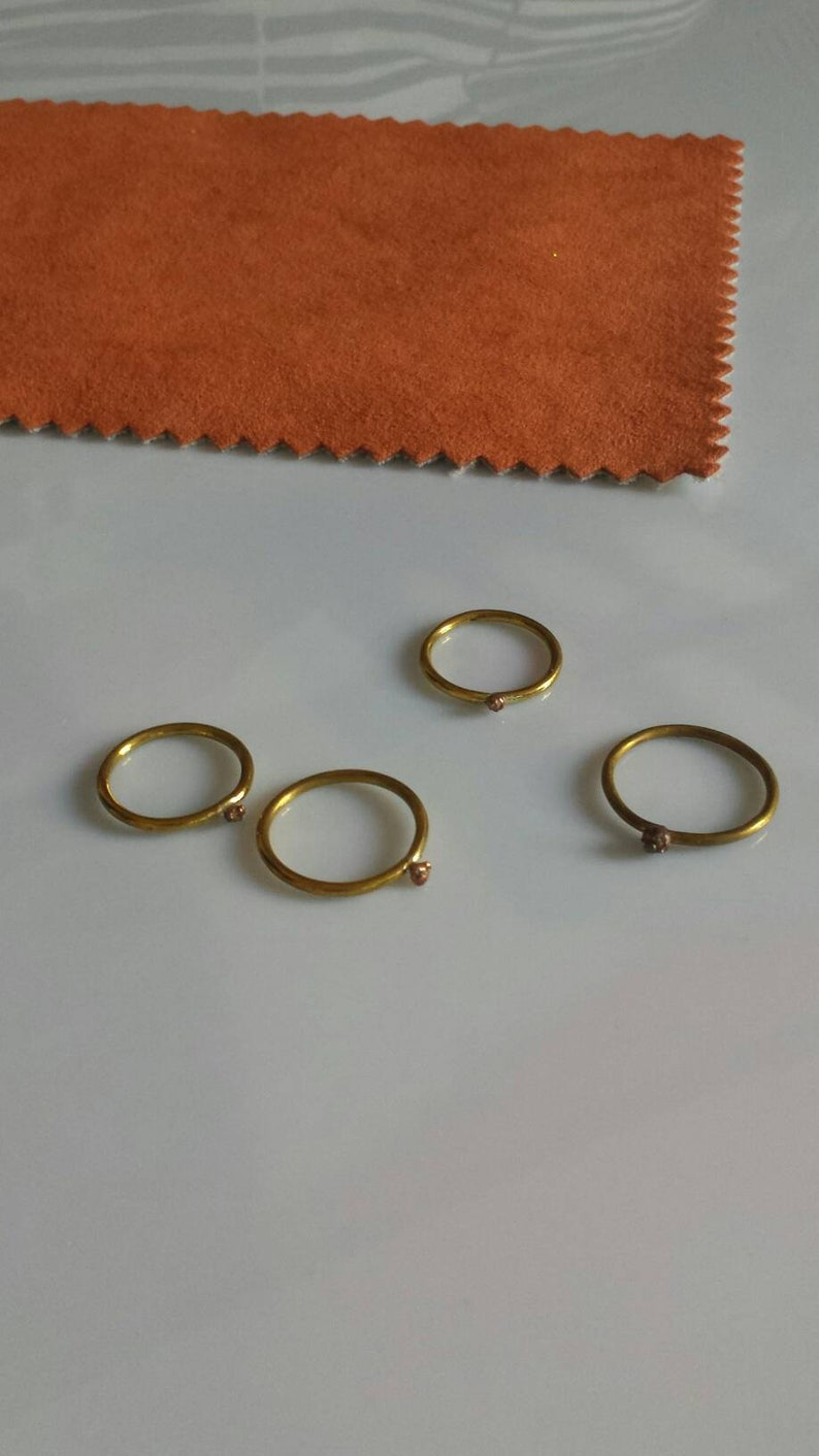Overlapping rings,stratification rings,lightweight,copper and brass ring,thin rings,brass rings,handmade rings,essential rings