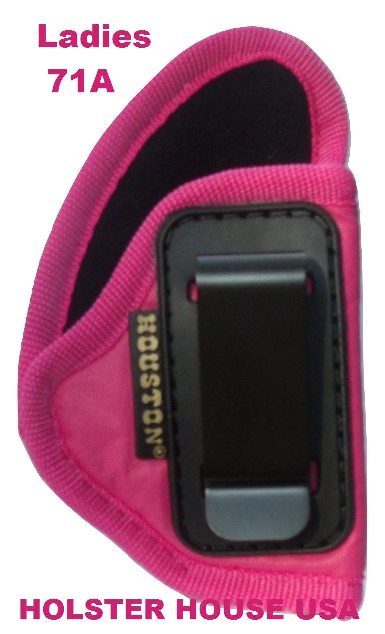 LADIES! Pink IWB Gun Holster, Eco Soft Leather Most small