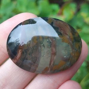 Polished Stone for Pendant Oregon Porcelain Jasper Christine Marie Morrisonite Jasper Cabochon Morrison Ranch Jasper