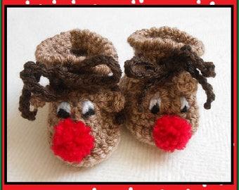 1ecc463222a Crochet Rudolf Booties
