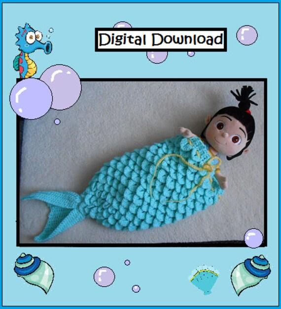 Muster: Häkeln Mermaid Tail Cocoon Baby Schlafsack Baby | Etsy