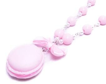 Petit Macaron Necklace - Kawaii Fairy Kei and Sweet Lolita Fashion Dessert Jewelry - 5 colors!