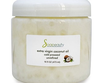EXTRA VIRGIN COCONUT Oil Organic Unrefined Cold-Pressed Natural Beauty/Cooking