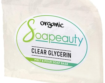CLEAR glycerin melt pour SOAP BASE detergent free organic natural