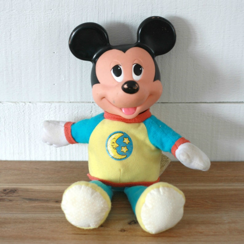 8e9eb76db 90s Mickey Mouse plush Mickey glow Disney Stuff toy Disney | Etsy