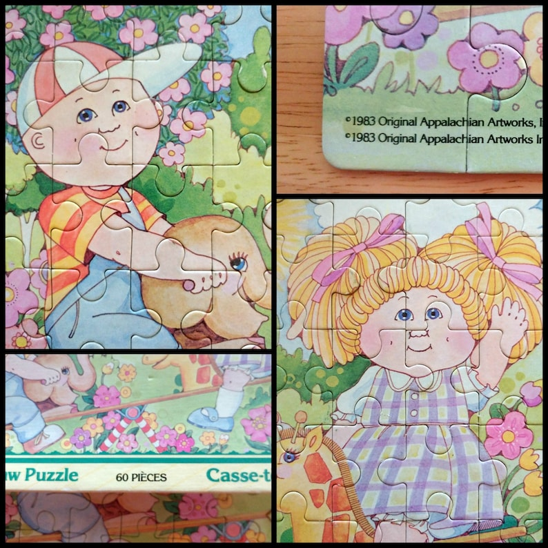 Cabbage patch kids puzzle 1983 Cabbage patch kids toys 80s kids, Kids puzzle Christmas gift Parker Brother game Kids gift 80s toy
