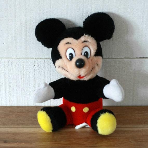 3ec2d76947e 80s Mickey Mouse plush Mickey Mouse stuff toy Disney Stuff