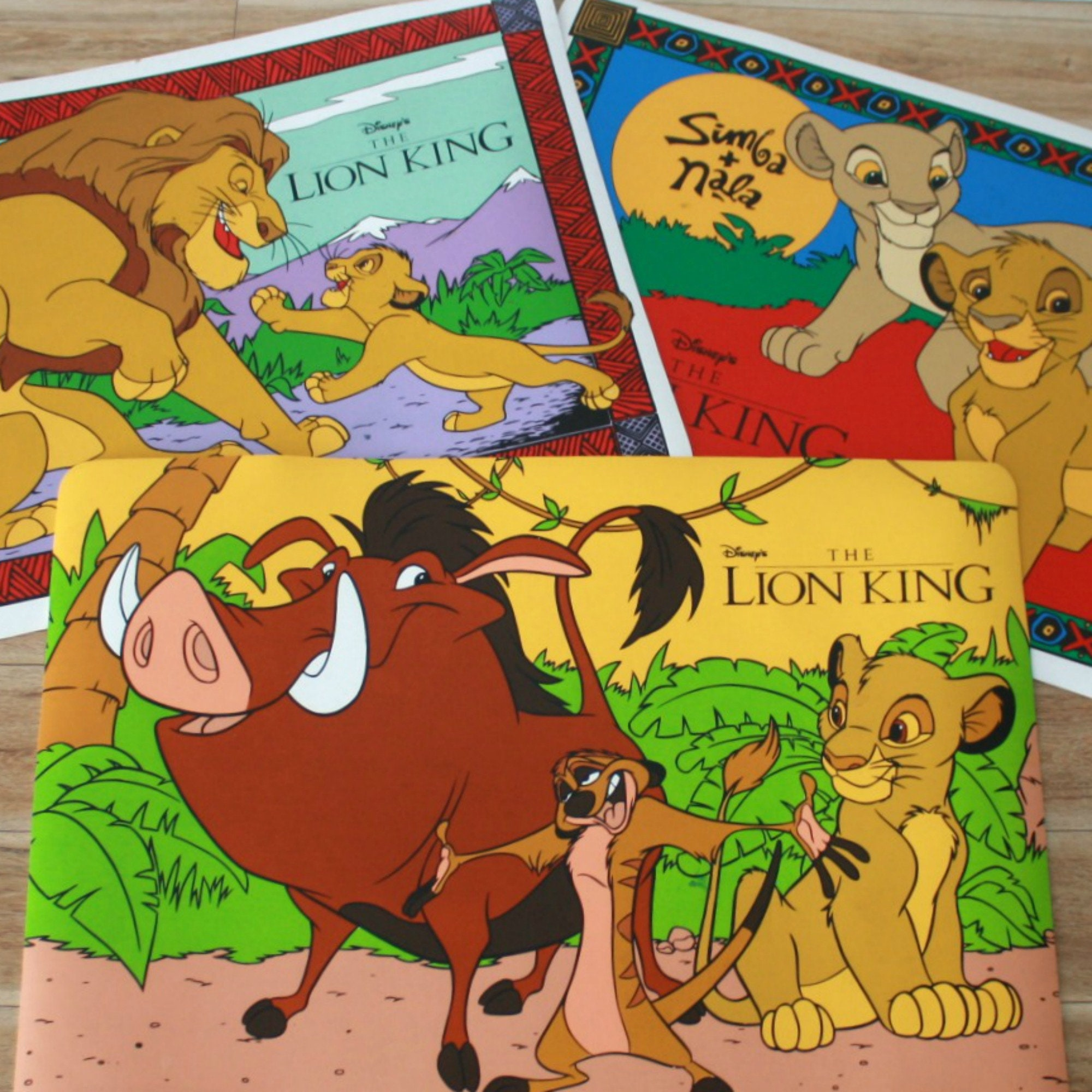 Drei Löwen king Tischsets Deckchen Simba kid Kind Tischsets | Etsy