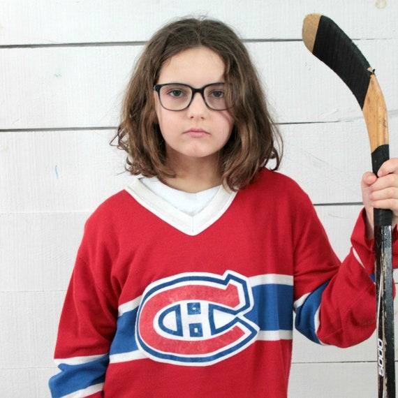 80s NHL Montreal Canadien kids jersey, Sport fan,