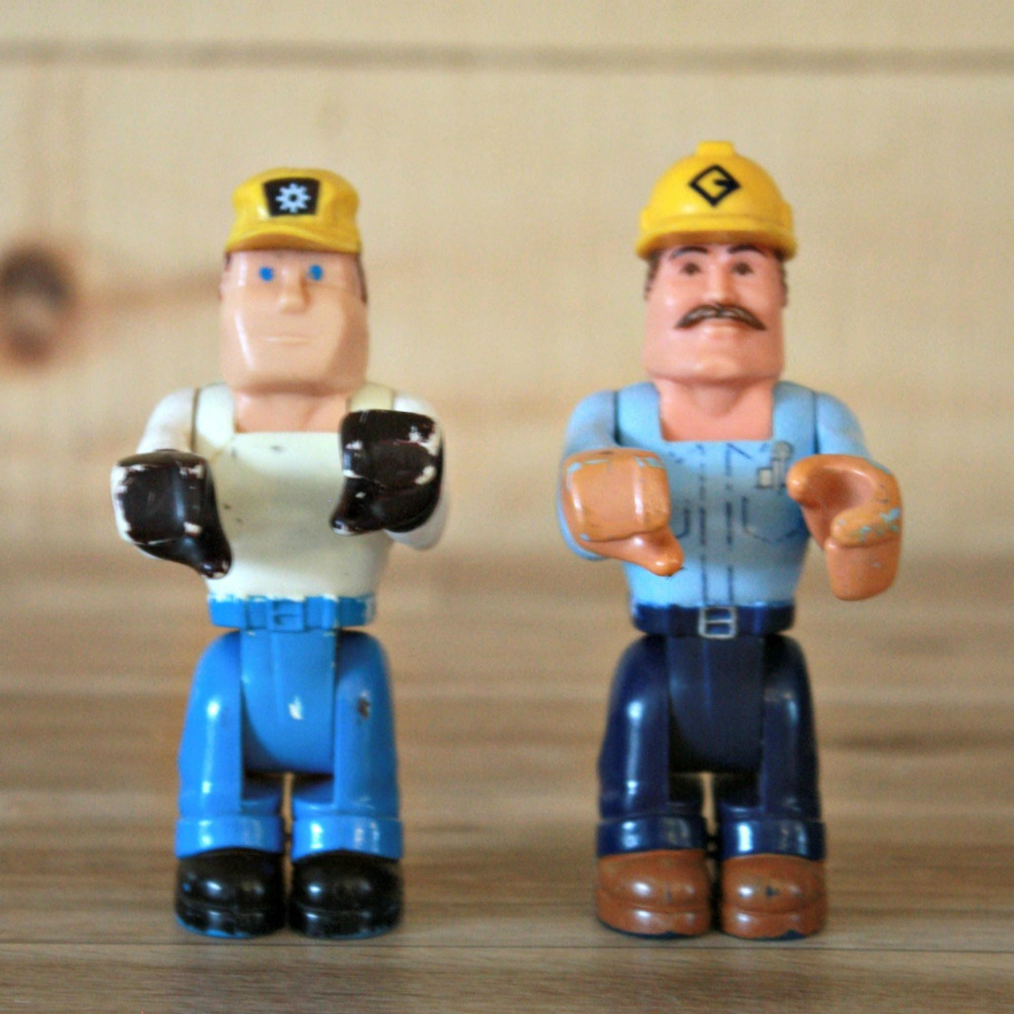 Paar Miniatur Fisher-Price Arbeiter 1977 plastische Figur | Etsy