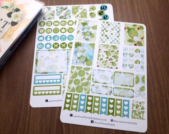 Mojito summer drink- weekly sticker kit for the mini Happy Planner, planner stickers, watercolor stickers