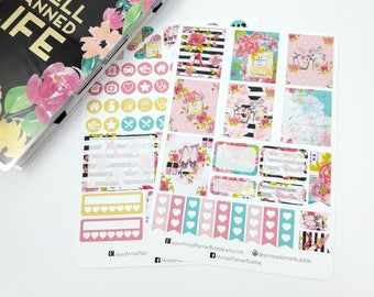 Mini Happy Planner sticker kit,style is forever weekly kit, planner stickers, weekly stickers, watercolor stickers, floral stickers