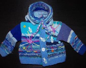 Original 3months VEST knitted Pixie hood
