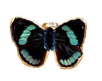 Real Handmade Butterfly Wing Ring -Resin Coated- Real Butterfly Wing Jewelry