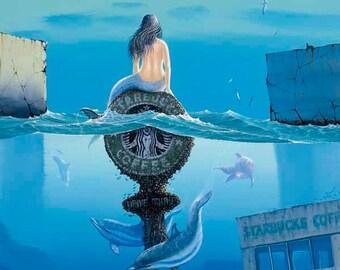 """Tim Wistrom Mini Print """"Siren's Brew"""""""