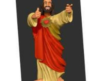 Buddy Christ Etsy In the film, cardinal glick, during his catholicism wow! campaign to move the church towards a younger, hipper demographic, suggest replacing the crucifix with a new image of christ. buddy christ etsy