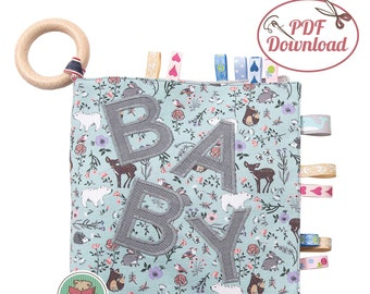 German tutorial , First Baby Softbook made of fabric to play, touch and feel