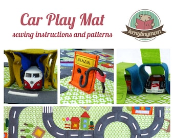 English E-Book (PDF) Step-by-Step sewing guide for a Car Play Mat