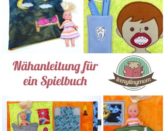 Sewing tutorial for a Quiet book made of fabric - German PDF step by step