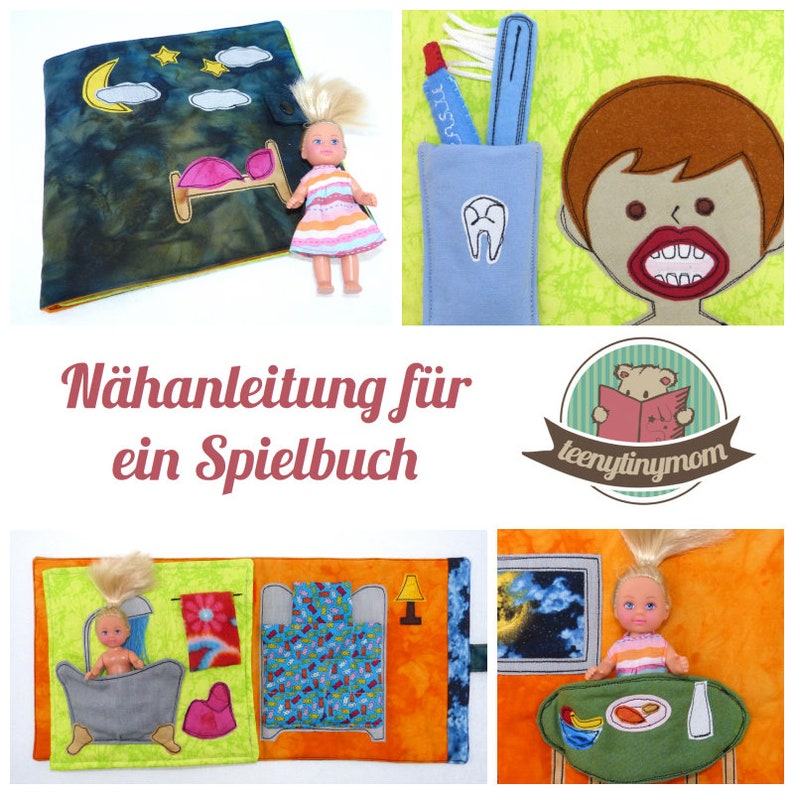 Sewing tutorial for a Quiet book made of fabric  German PDF image 0