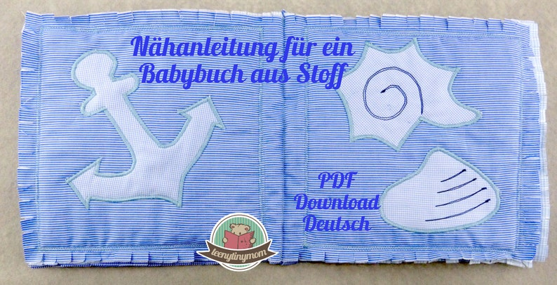 First Baby Softbook made of fabric for beginner tutorial  image 0