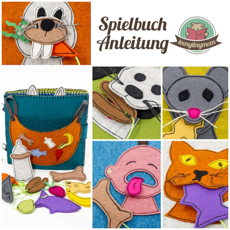 Funny playbook for the little ones. Who eats what  GERMAN image 0