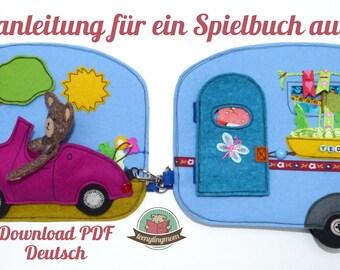 Quiet book Teddy Caravan german pdf pattern