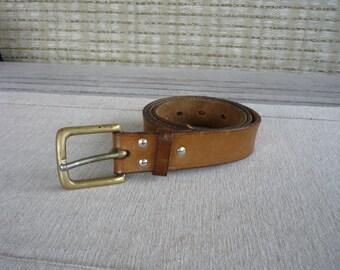 Vintage Ralph Lauren Polo ceinture en cuir avec boucle en laiton, Vintage  des années 90 de mode accessoire 1684840bf4fa