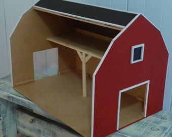 92b193d2af6 Red Toy Barn with Hay Loft
