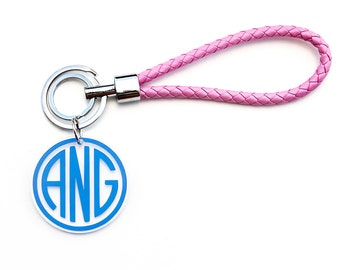 Monogram Wristlet Keychain, Monogram Keychains, Monogram Key chain, Bridesmaid Gift, Gift for Her, Wristlet Keychain, Key chain, Keychains