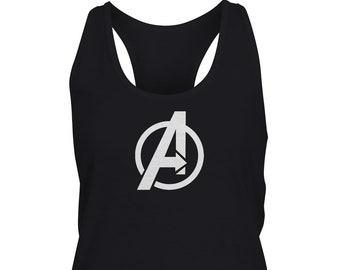 Marvel Womens Avengers Endgame High Tech Logo Racerback Tank Top