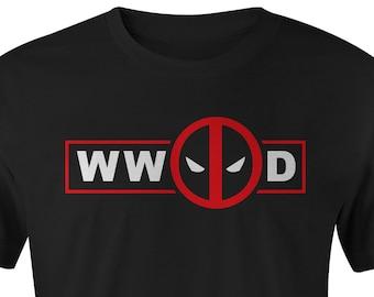 WW Deadpool D T-shirt, Deadpool T-shirt, Deadpool Tee, Deadpool Tees, Marvel Deadpool Shirt, What Would Deadpool Do