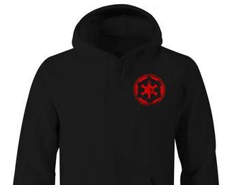 Star Wars Galactic Empire Symbol Left Chest Hoodies, Star Wars Hoodies , Star Wars Hoodies, Star War, Star Wars Rebels, Star Wars Empire