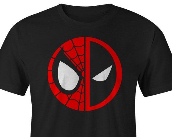 Spider Man and DeadPool Logo Shirt Spider Man Tee Deadpool