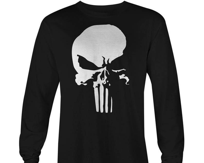 8fc00546 Punisher Logo Long Sleeve T-shirt Punisher Shirt Punisher   Etsy
