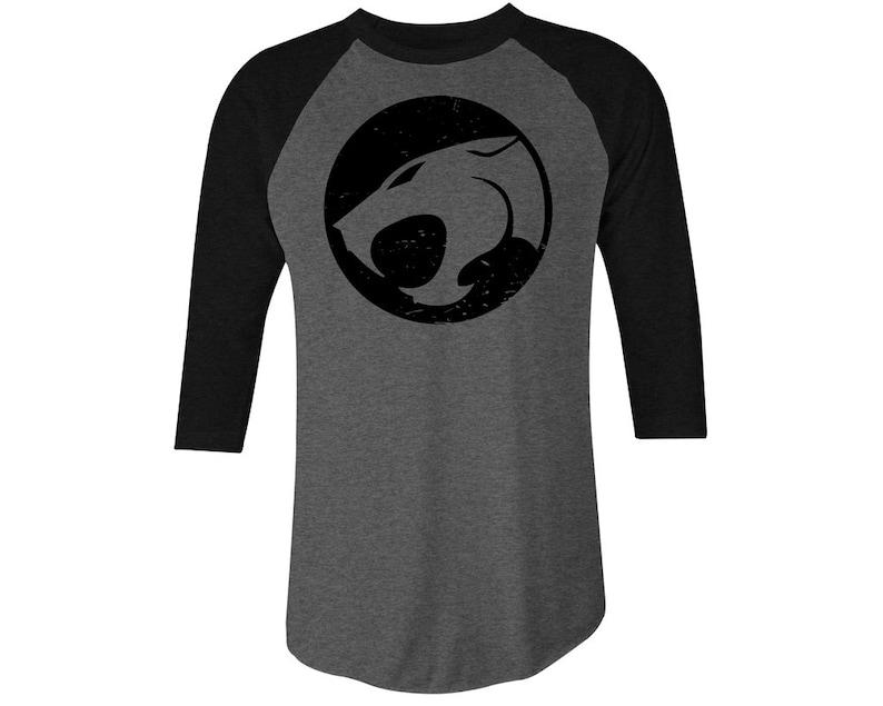 Black and Grey Men's Thundercats Baseball Shirt, S to 2XL