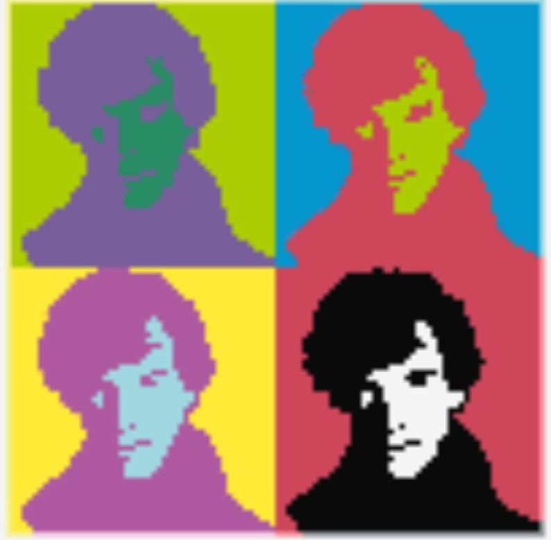 Sherlock Inspired Fan Art Perler Bead Sprite Pixel Pattern Instant Digital  Download Andy Warhol