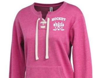 79bbcd957 Hockey Aunt shirt, Hockey Aunt crew, hockey shirt, hockey sweatshirt,  hockey aunt apparel, aunt gifts