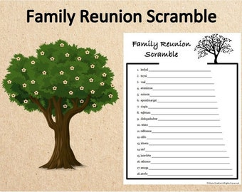 picture regarding Printable Family Reunion Games identified as Loved ones reunion online games Etsy