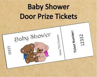 printable baby shower door prize ticketsup to 40 ticketsinstant download baby shower raffle ticketsdigital baby shower gameteddy bear