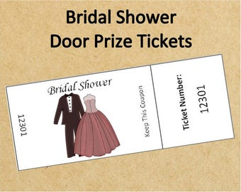 Raffling off prizes for bridal shower