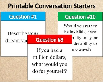 picture about Would You Rather Cards Printable identify Communication playing cards Etsy