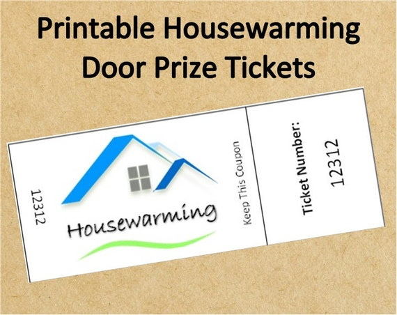 Instant Download Housewarming Door Prize TicketsUp To 40 Etsy