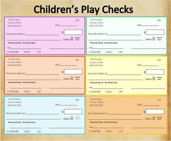 This is a graphic of Printable Checks for Kids throughout reward