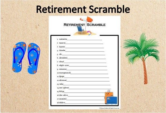 This is a picture of Légend Retirement Party Games Free Printable