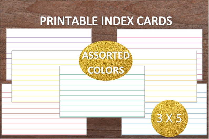 picture regarding Printable Index Cards 3x5 named Various Hues Covered Printable Index Playing cards~3x5~Recipe Playing cards~Higher education Resources~Workplace Elements~Electronic Index Playing cards~Electronic Obtain