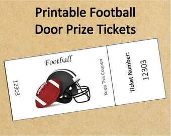 Printable Football Watch Party Door Prize ...  sc 1 st  Etsy & Door prize tickets | Etsy